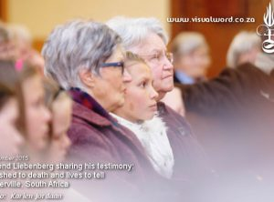 Crowd listening to Barend Liebenberg giving his after death testimony that happened in 1992 - Porterville, South Africa